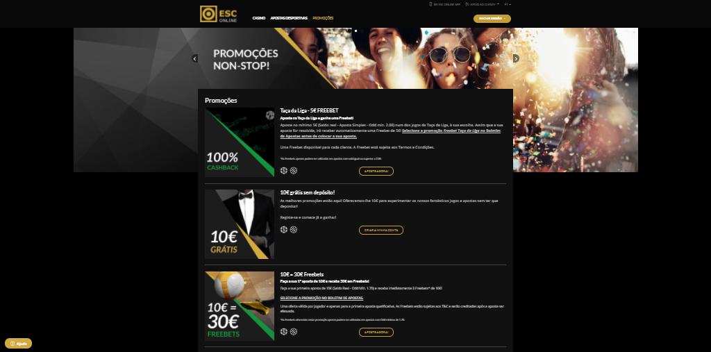 Casino Estoril Online Promoções