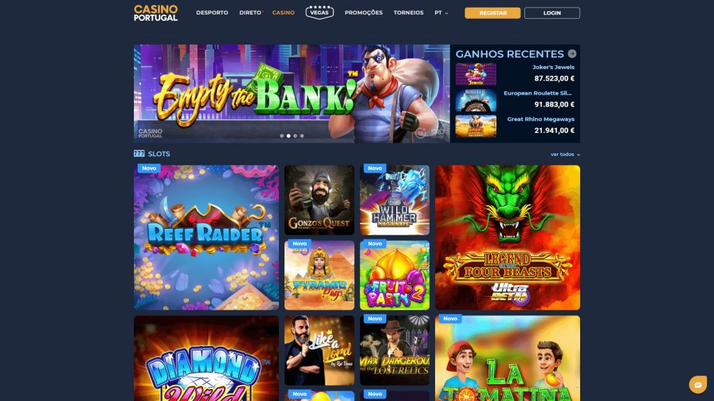 Casino Portugal Homepage