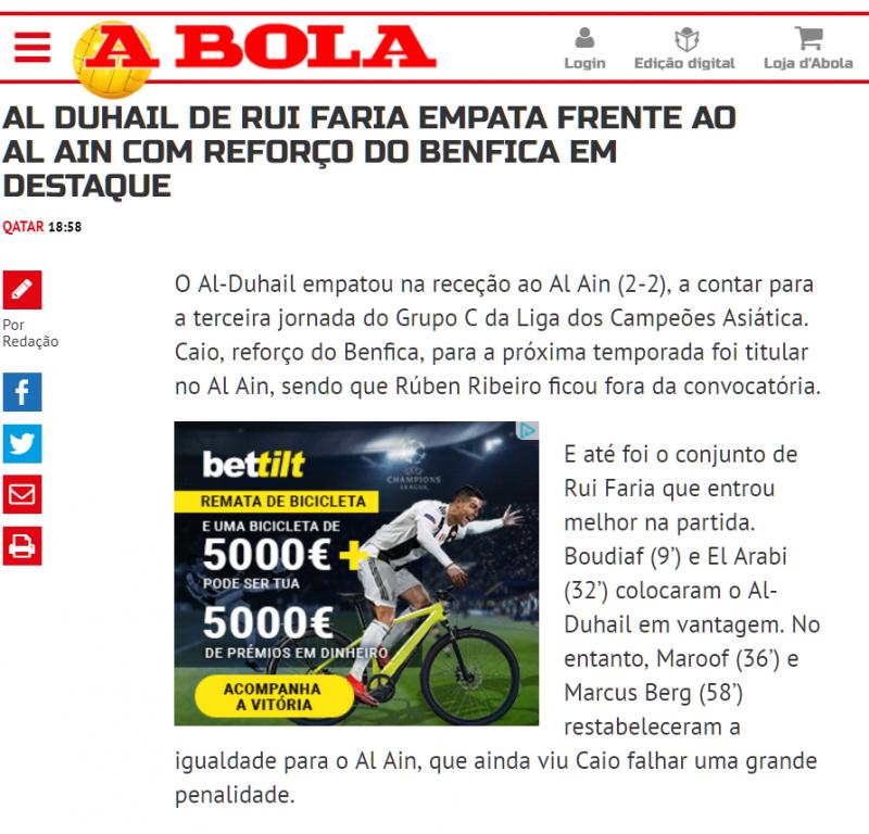 Bettilt Portugal jornal a Bola
