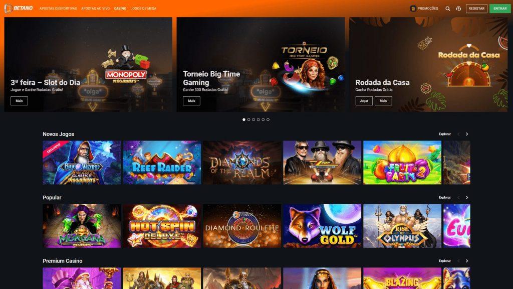 Casino Betano Homepage