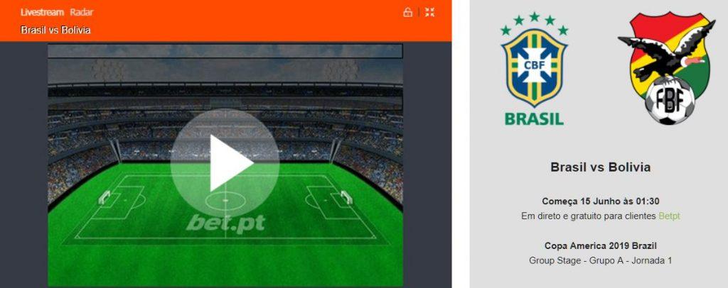 Brasil vs Bolivia live stream