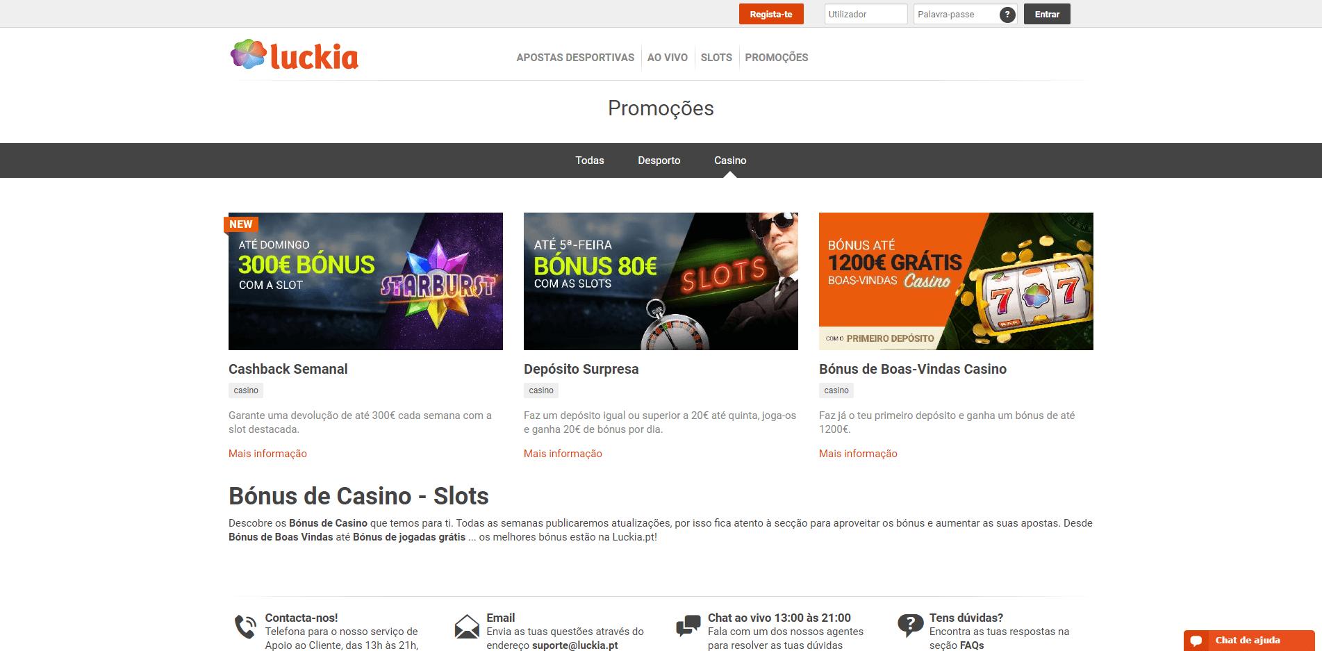 promoções semanais no casino Luckia