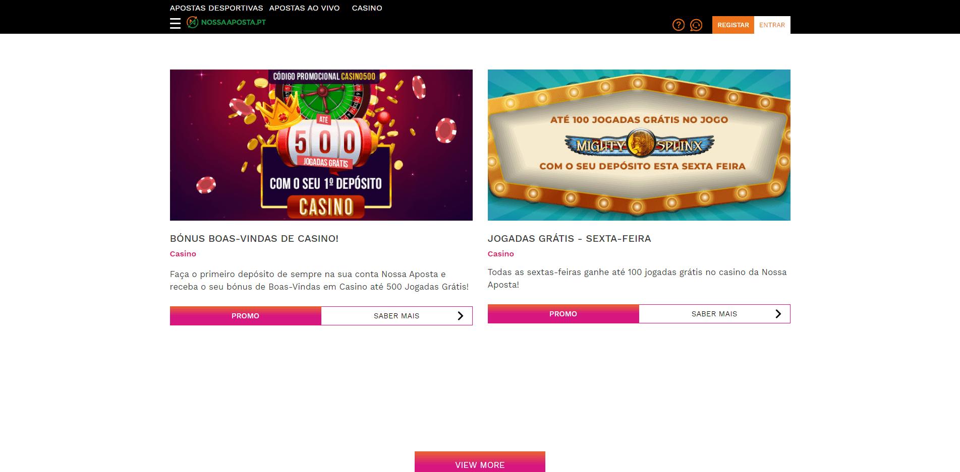 promoções semanais no casino