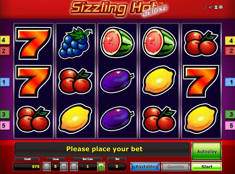 Sizzling Hot Deluxe Casino Games