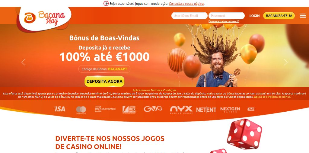 BacanaPlay homepage