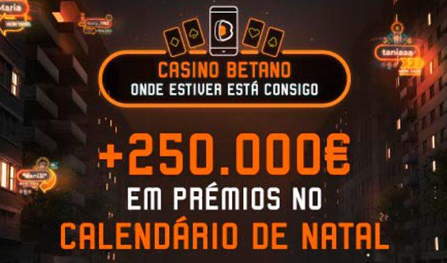 Calendário de Natal Casino Betano