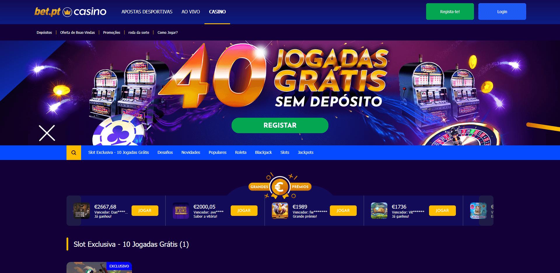 bet casino homepage